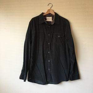 63a80a529fa3 Urban Outfitters Shirts - Mens Dark Green Corduroy button down long sleeve